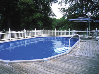 We Install The Highest Quality Above Ground Pools Or Semi Inground Pools