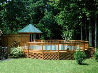 Modren Semi Inground Pools With Decks Walk Deck Throughout Ideas